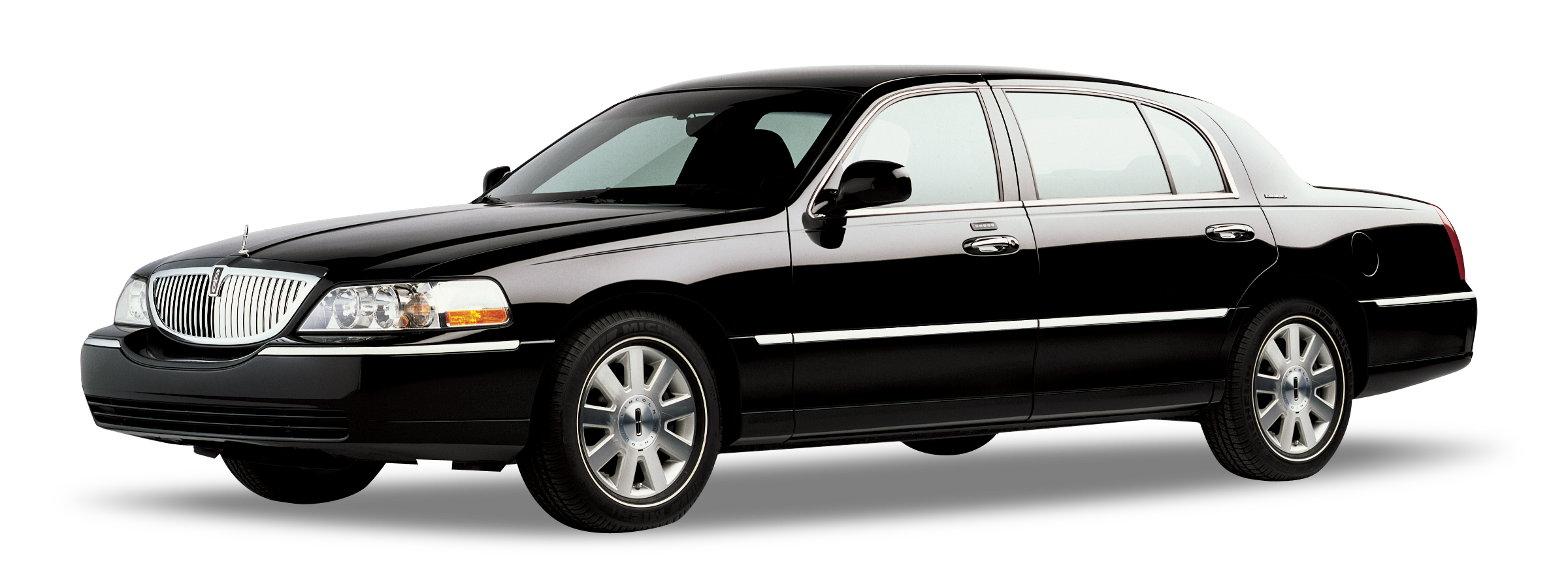 4 Passenger Black Lincoln Towncar Charlotte Limousine Transportation